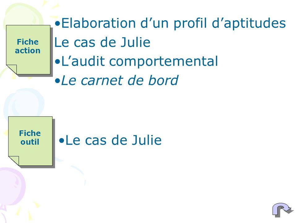 Elaboration d'un profil d'aptitudes Le cas de Julie