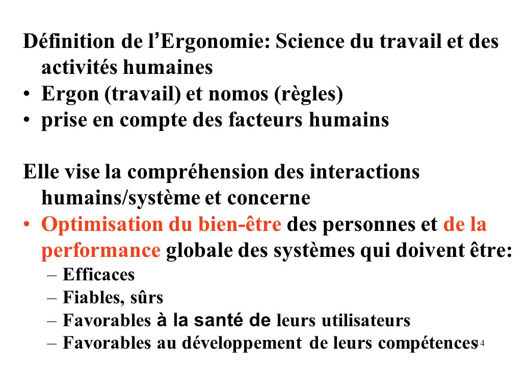 Ergon (travail) et nomos (règles) prise en compte des facteurs humains