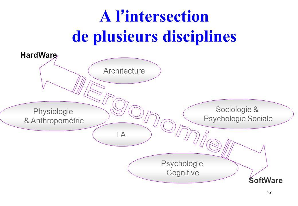 A l'intersection de plusieurs disciplines