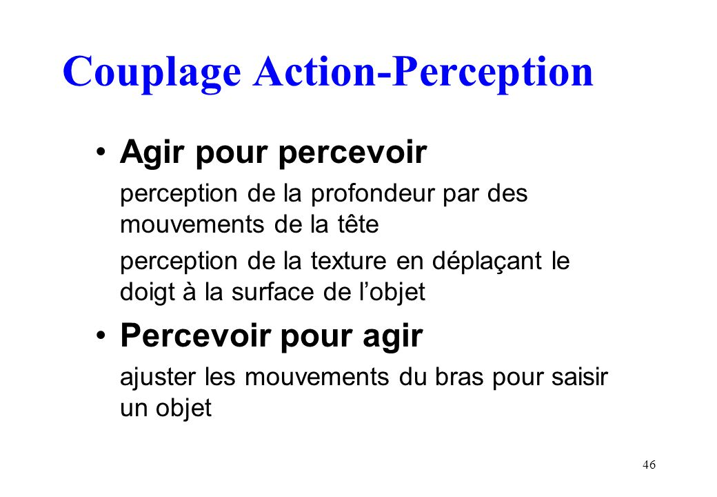 Couplage Action-Perception