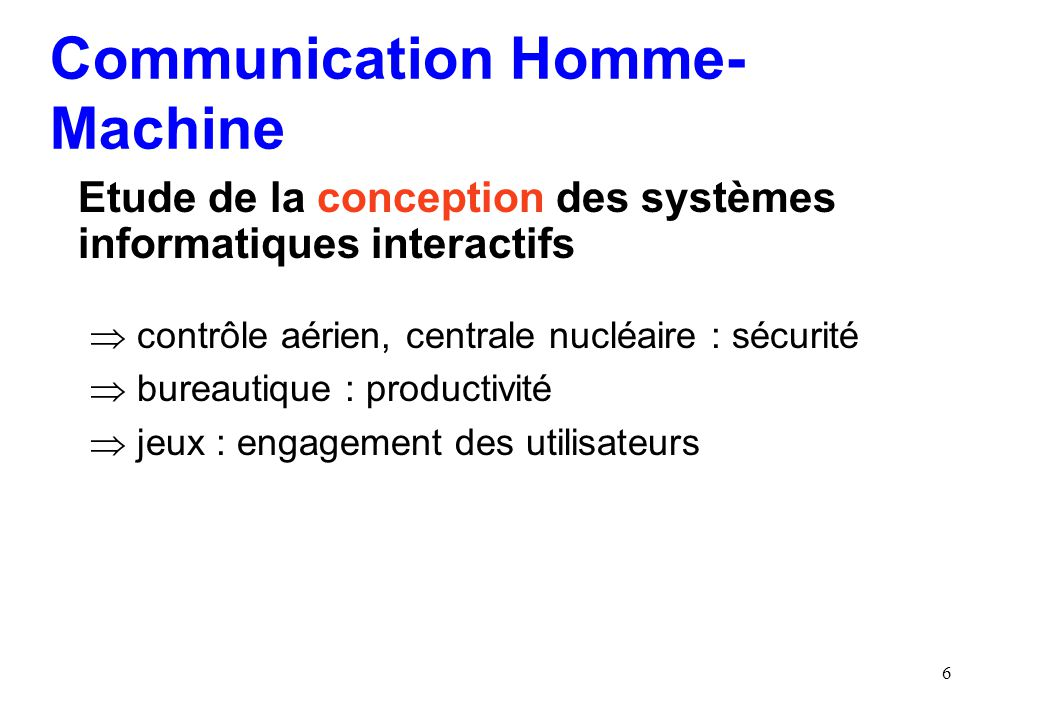 Communication Homme- Machine