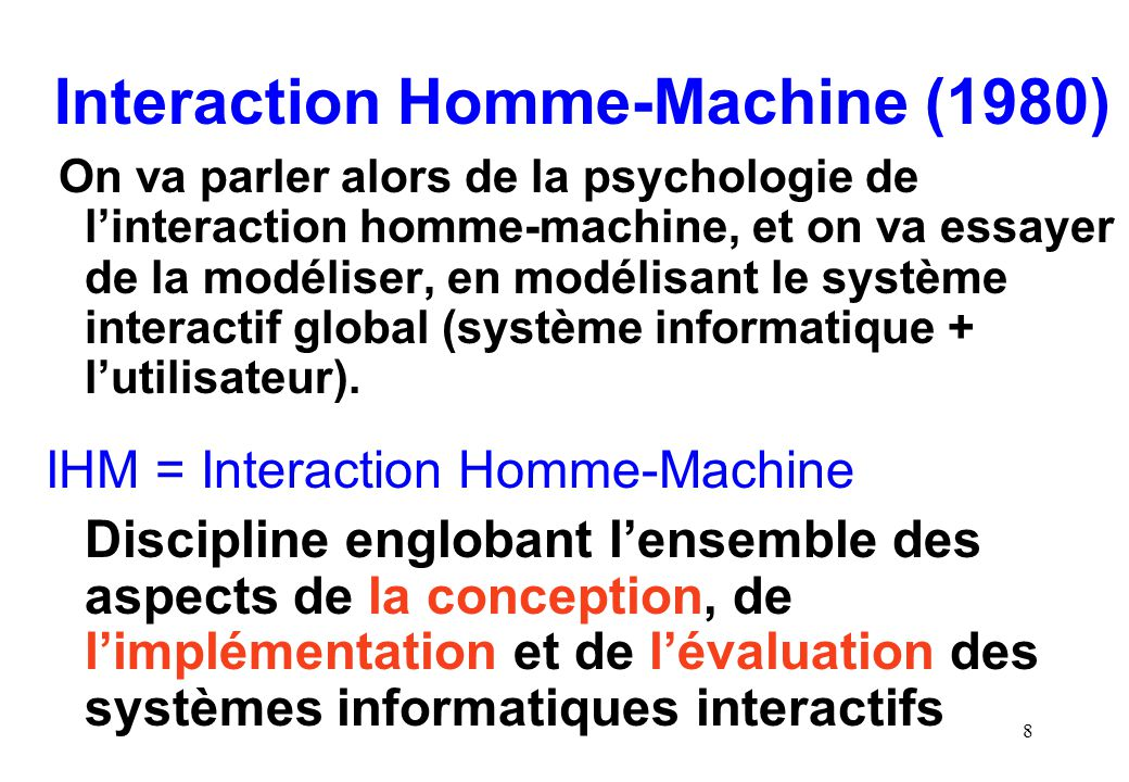 Interaction Homme-Machine (1980)