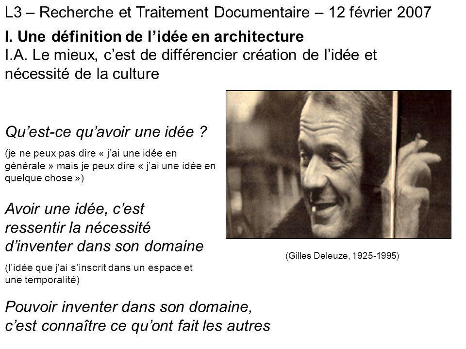 L3 – Recherche et Traitement Documentaire – 12 février 2007