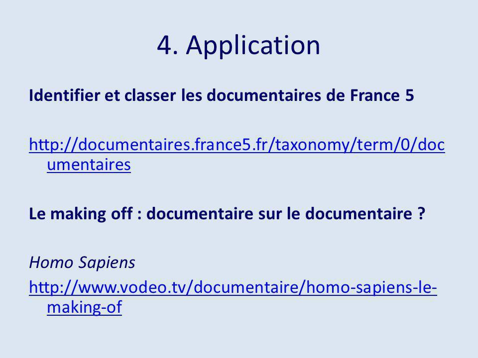4. Application Identifier et classer les documentaires de France 5
