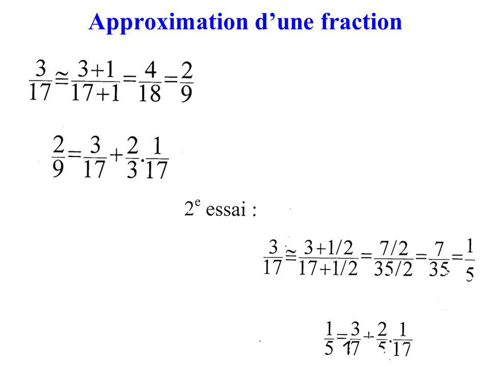 Approximation d'une fraction