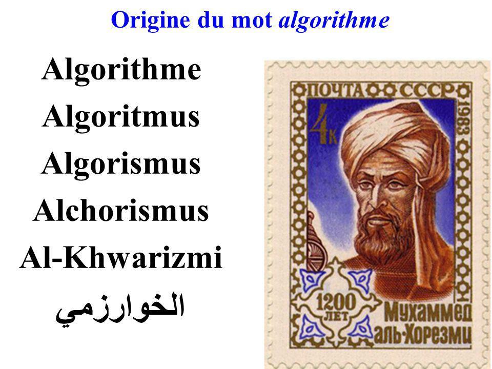 Origine du mot algorithme