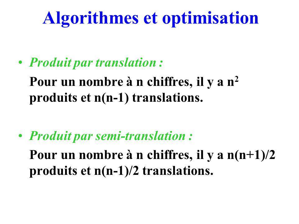 Algorithmes et optimisation