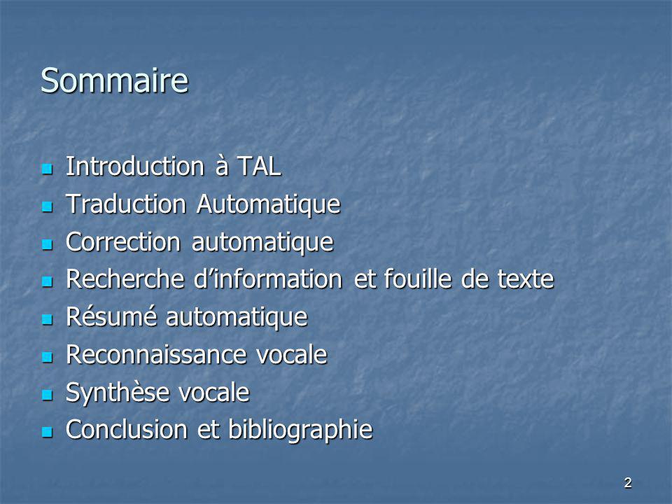 tal  traitement automatique des langues