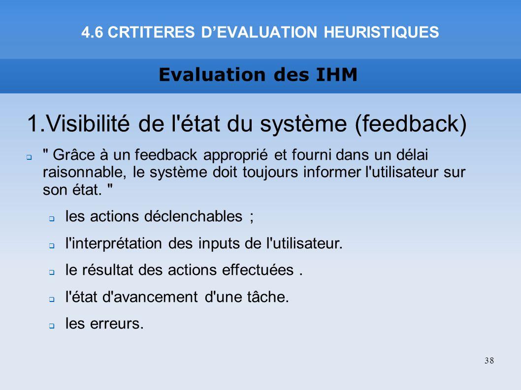 4.6 CRTITERES D'EVALUATION HEURISTIQUES