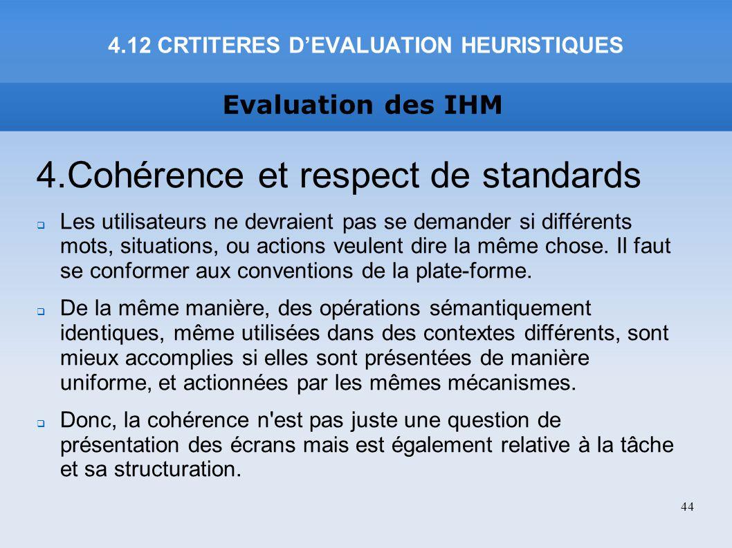 4.12 CRTITERES D'EVALUATION HEURISTIQUES