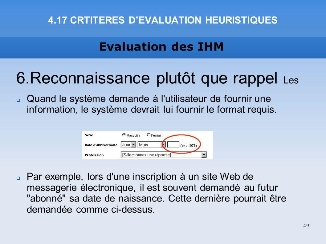 4.17 CRTITERES D'EVALUATION HEURISTIQUES