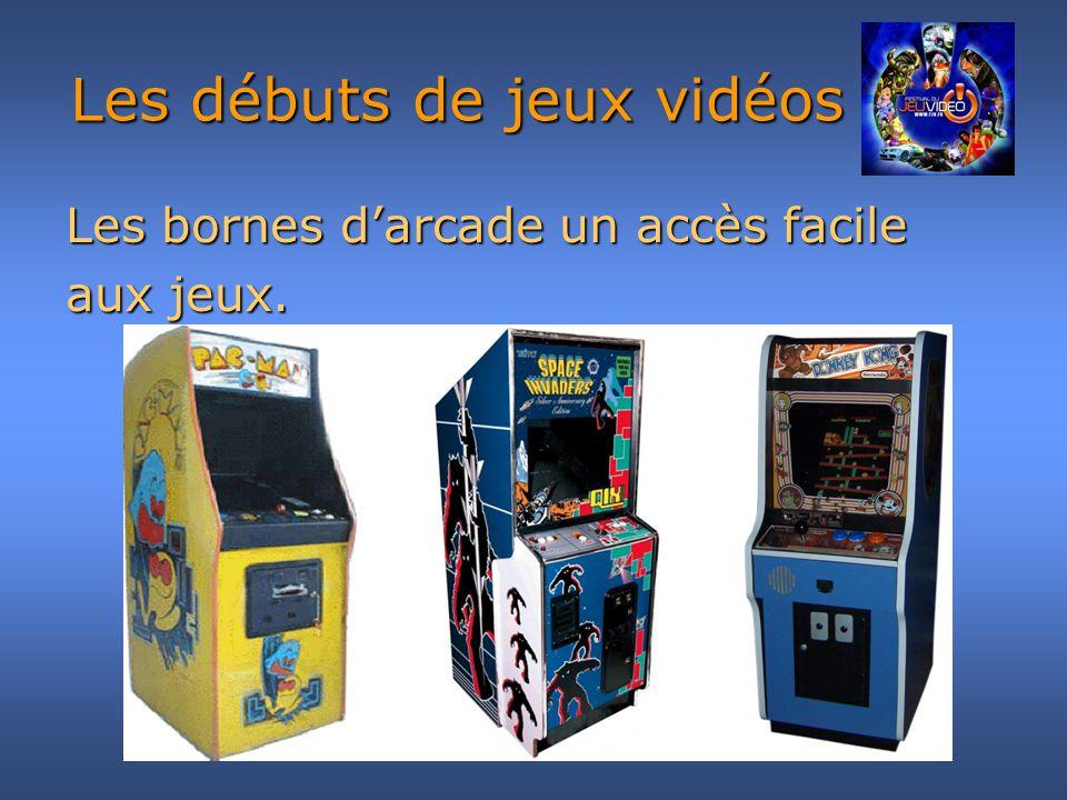 Les débuts de jeux vidéos