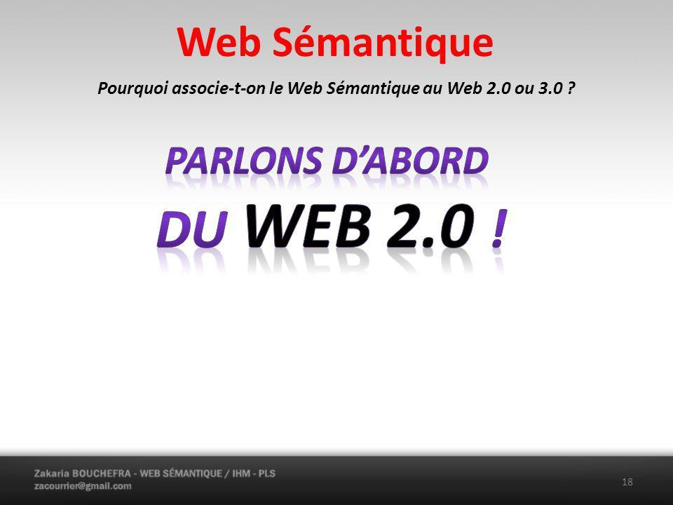 Pourquoi associe-t-on le Web Sémantique au Web 2.0 ou 3.0