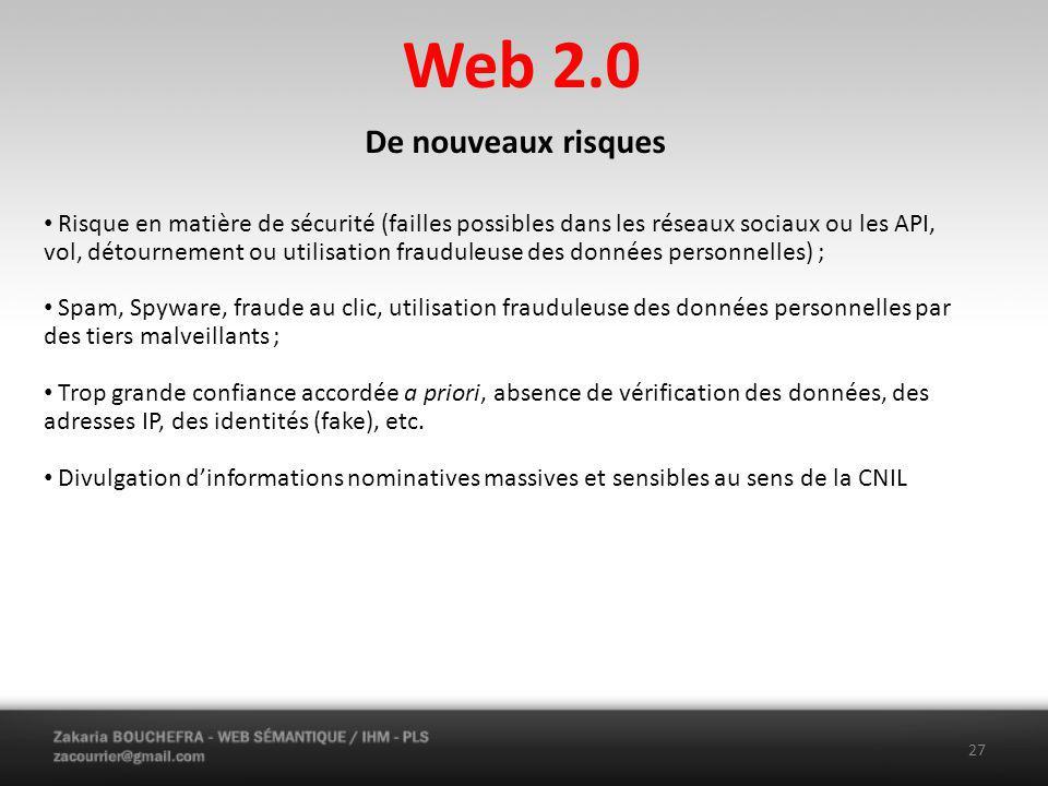 Web 2.0 De nouveaux risques