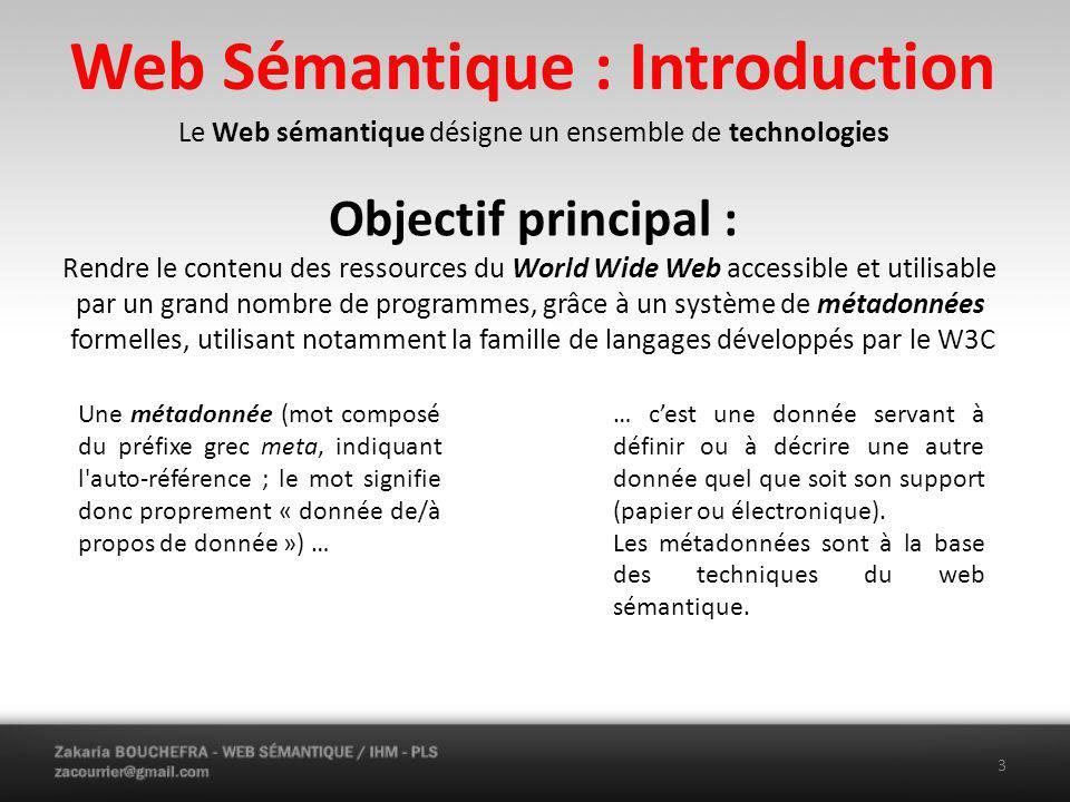 Web Sémantique : Introduction