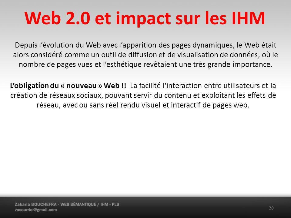 Web 2.0 et impact sur les IHM