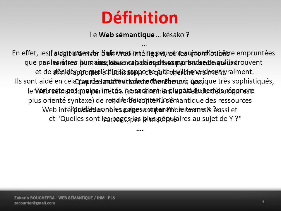 Définition Le Web sémantique … késako