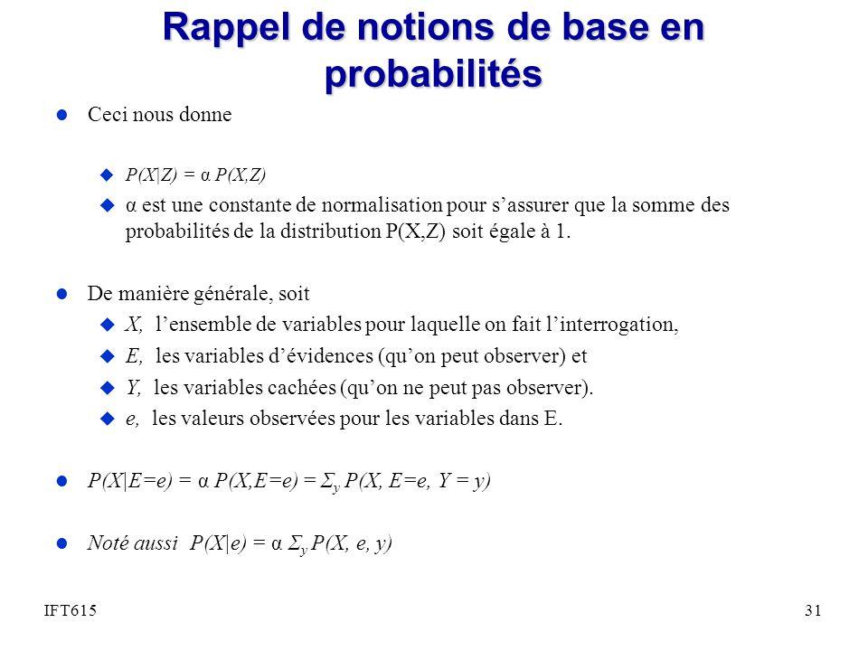 Rappel de notions de base en probabilités