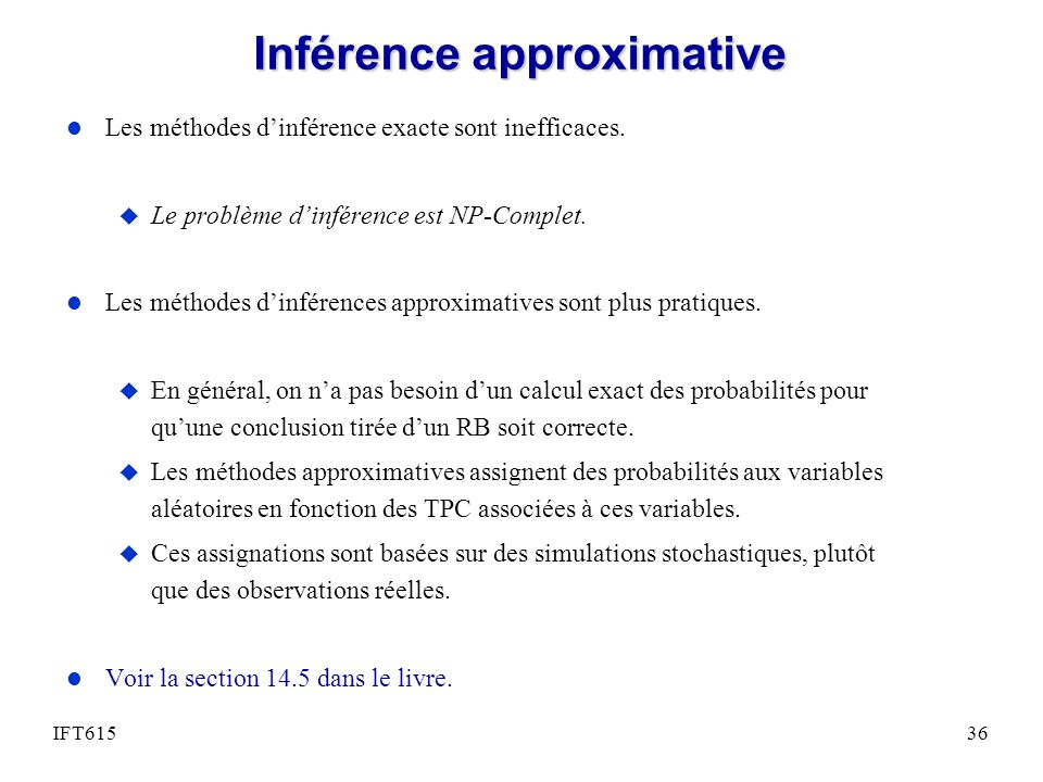 Inférence approximative