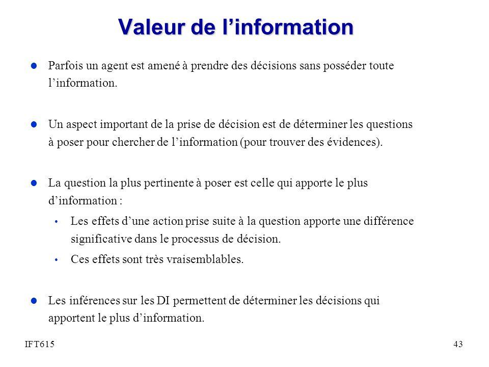 Valeur de l'information