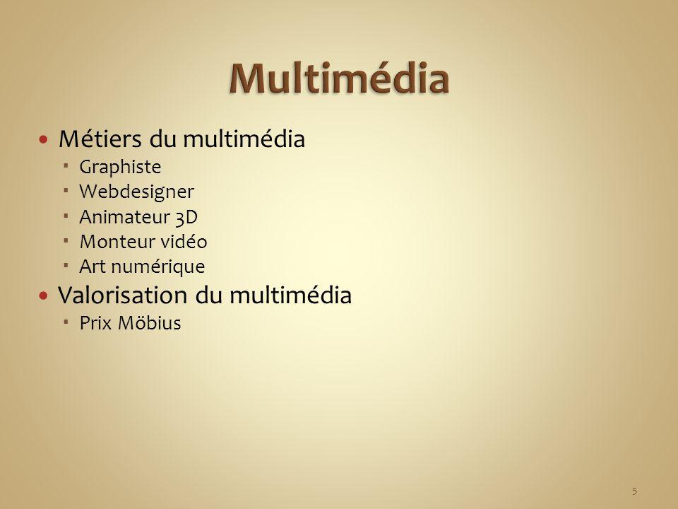 Multimédia Métiers du multimédia Valorisation du multimédia Graphiste