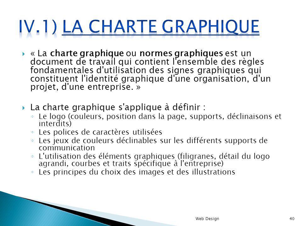 IV.1) La charte graphique