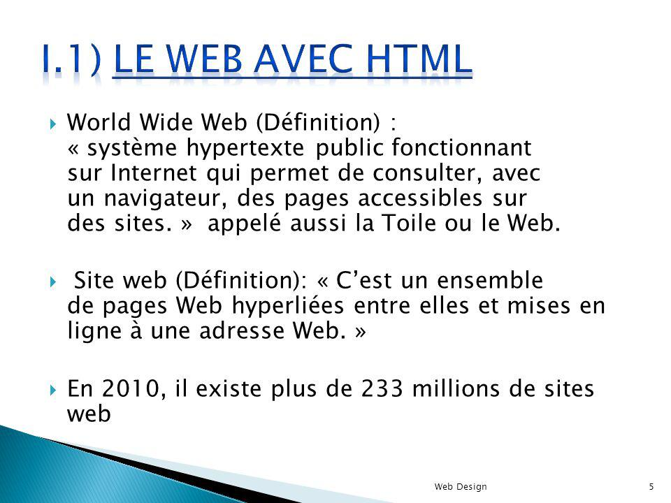 I.1) le web avec html