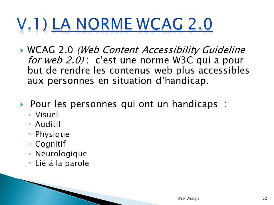 V.1) La norme WCAG 2.0