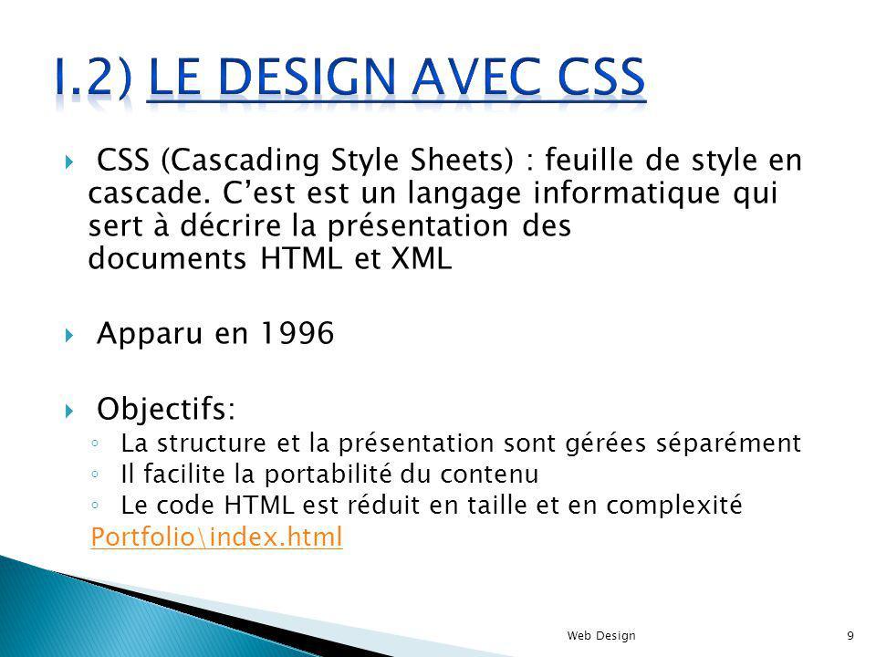I.2) le design avec CSS
