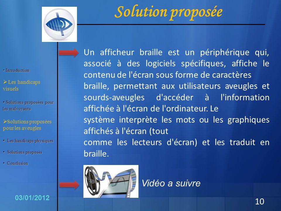 Solution proposée