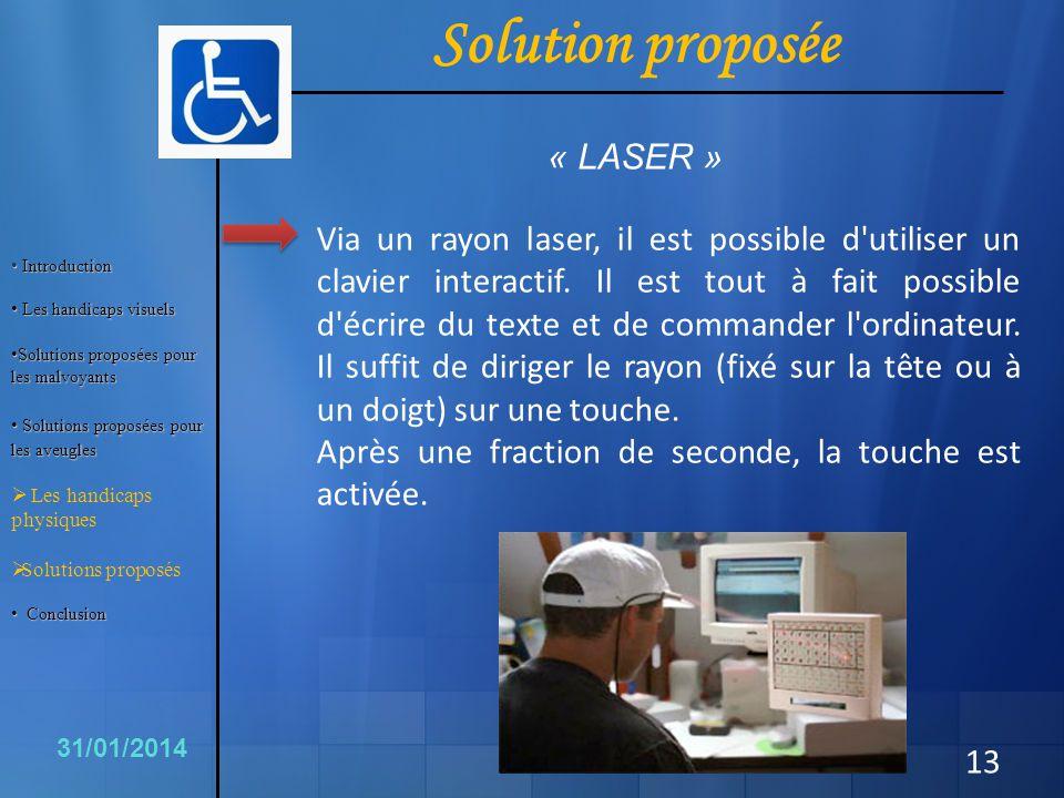 Solution proposée « LASER »