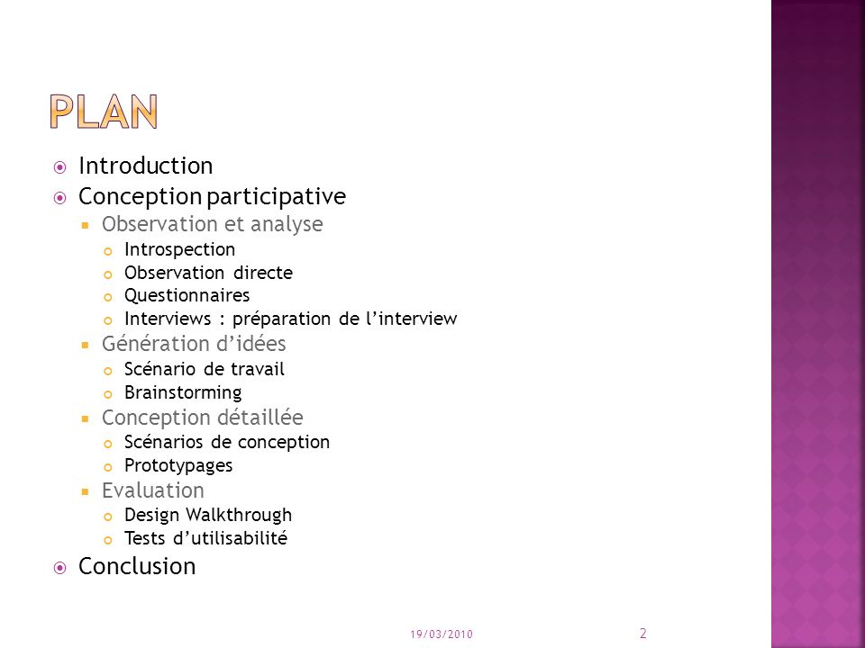 plan Introduction Conception participative Conclusion
