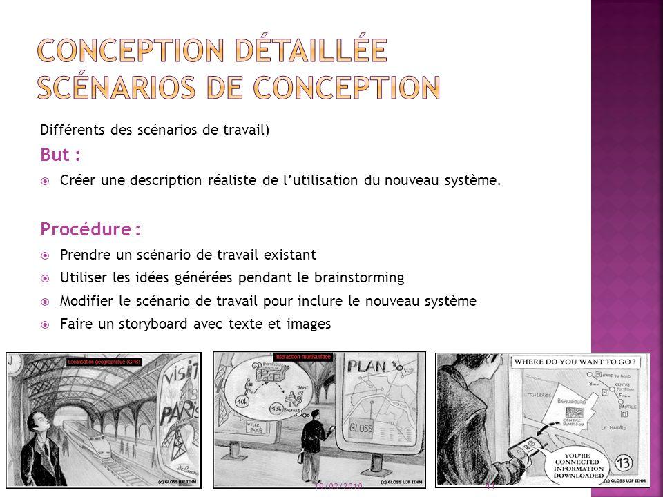 Conception détaillée scénarios de conception