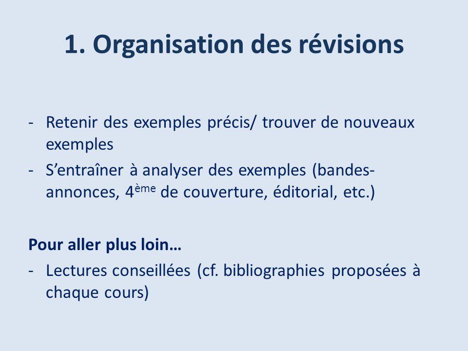 1. Organisation des révisions
