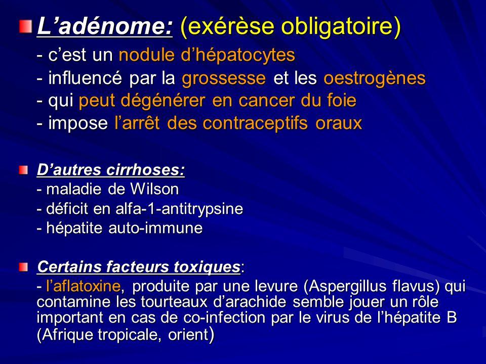 L'adénome: (exérèse obligatoire)