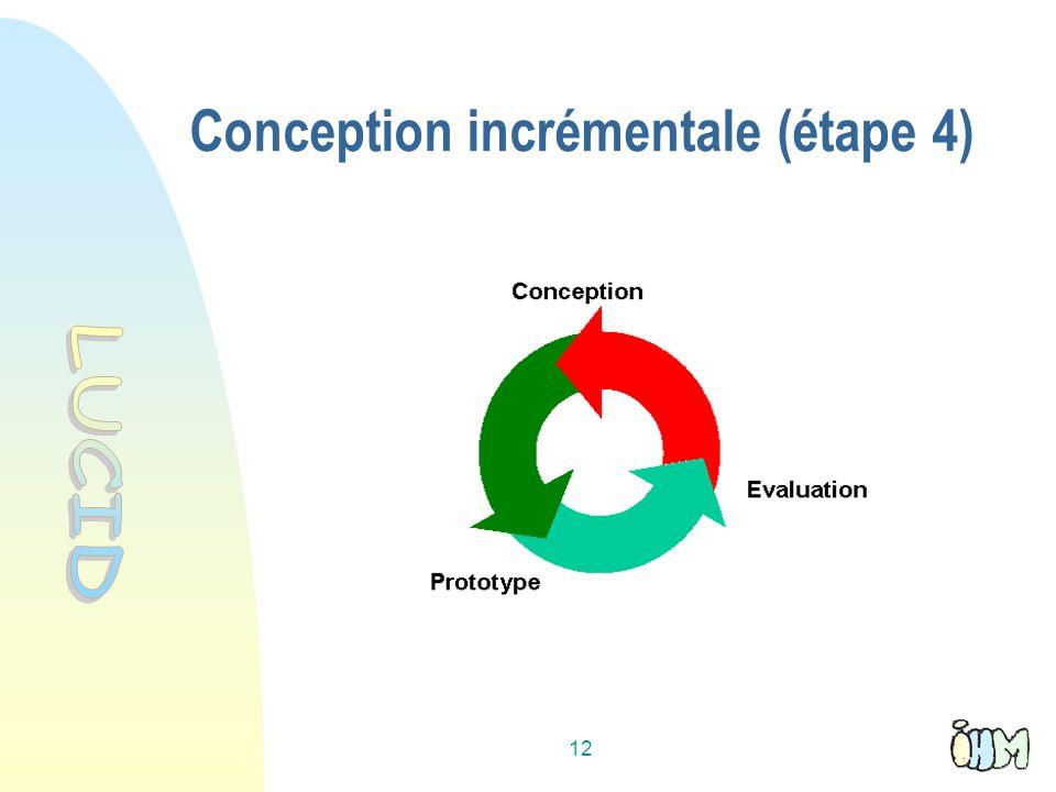 Conception incrémentale (étape 4)