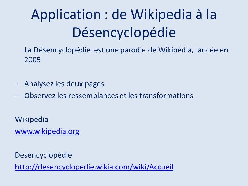 Application : de Wikipedia à la Désencyclopédie