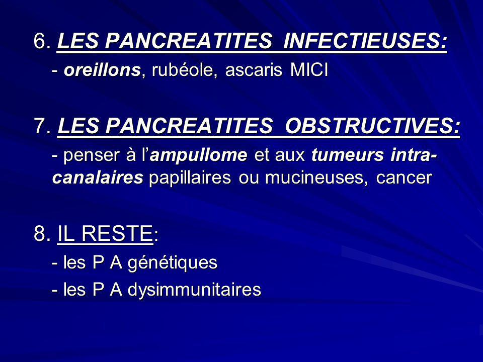 6. LES PANCREATITES INFECTIEUSES:
