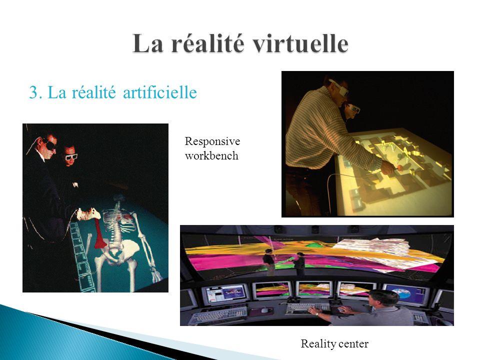 La réalité virtuelle 3. La réalité artificielle Responsive workbench