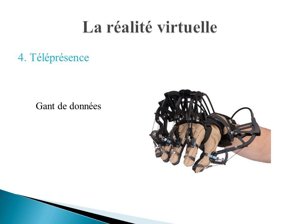 La réalité virtuelle 4. Téléprésence Gant de données