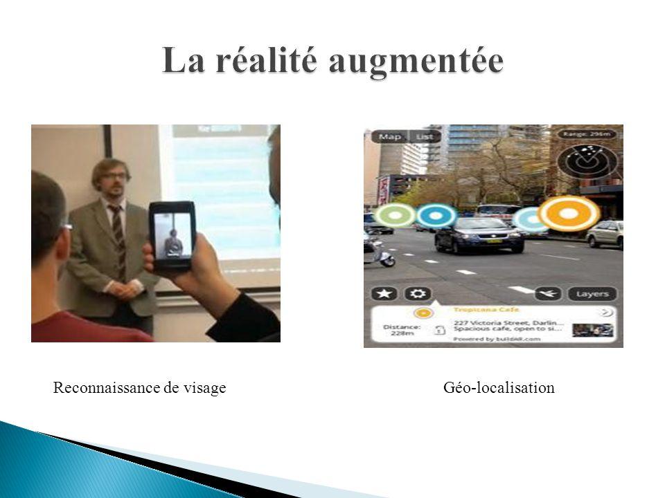 La réalité augmentée Reconnaissance de visage Géo-localisation