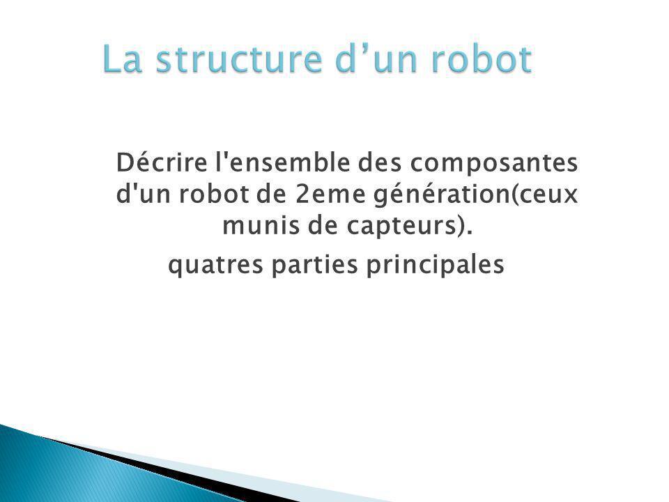 La structure d'un robot