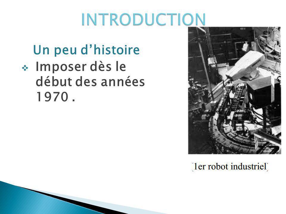 INTRODUCTION Un peu d'histoire Imposer dès le début des années 1970 .