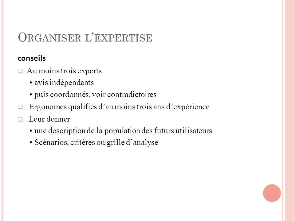 Organiser l'expertise