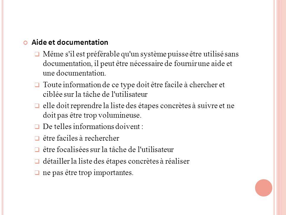 Aide et documentation