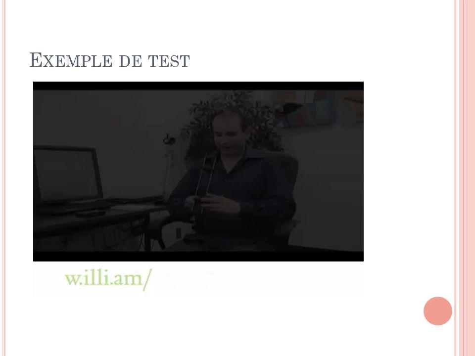 Exemple de test caméra spécialement adaptée pour réaliser des tests utilisateur sur des plateforme mobiles comme le iPhone ou le iPad.