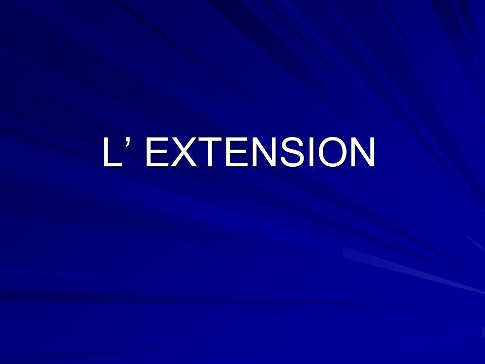 L' EXTENSION