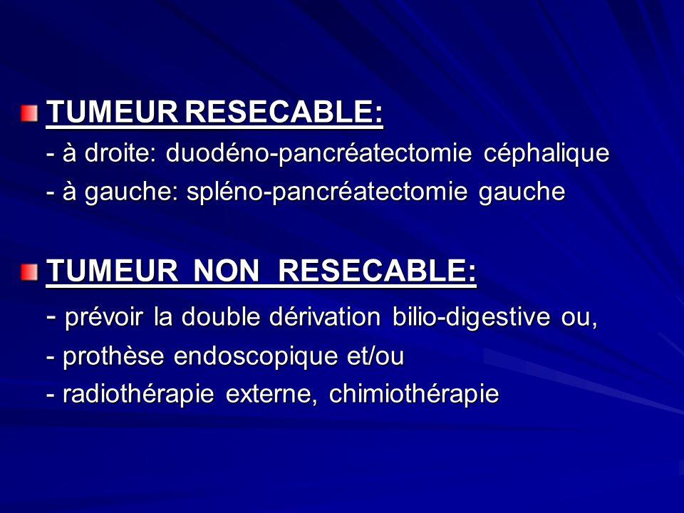 - prévoir la double dérivation bilio-digestive ou,