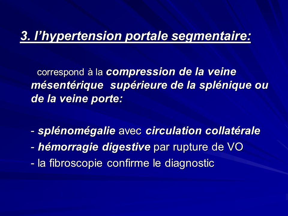 3. l'hypertension portale segmentaire: