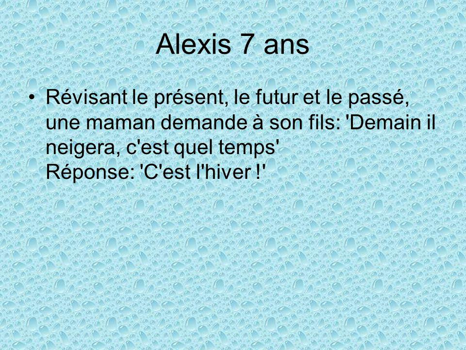 Alexis 7 ans
